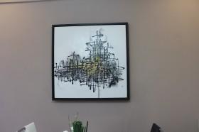 客厅抽象装饰画效果图片