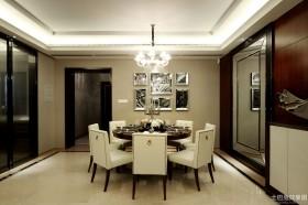 现代新古典风格四室两厅西餐厅设计效果图大全2014图片