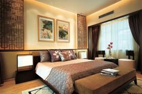 中式风格三室两厅卧室装修效果图大全