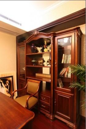 古典欧式书房书柜装修效果图