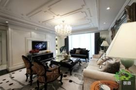 新古典风格二居客厅装修效果图2014