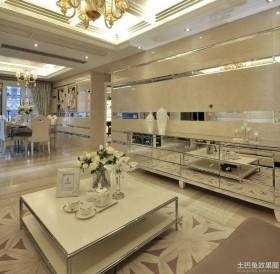100平米后现代风格二居客厅装修设计