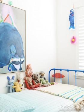 创意混搭风格两室一厅小卧室床装修效果图
