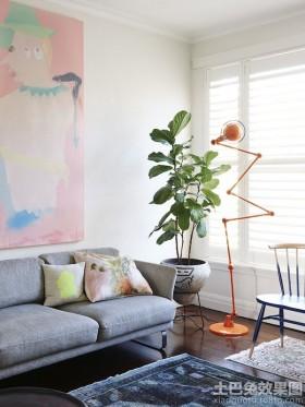 创意混搭风格沙发背景墙效果图