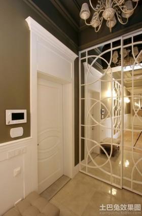 现代风格室内镂空隔断效果图