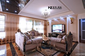 新古典风格100平米两室两厅客厅装修效果图