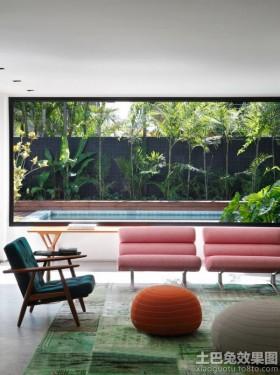 混搭风格别墅客厅家具椅子图片