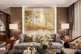 新古典风格两室一厅家装客厅装饰画设计图
