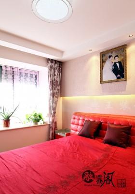 现代风格婚房床装修效果图大全2016图片