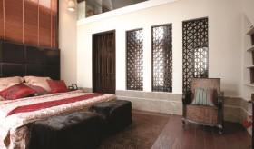 现代中式风格三居室卧室装修效果图欣赏