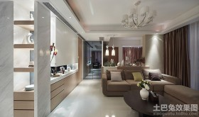 韩式简约客厅吊顶效果图片