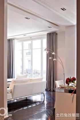 现代简约风格两室两厅客厅窗帘效果图大全2014图片