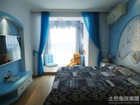 地中海儿童房飘窗装修图