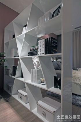 后现代风格卧室书架隔断装修效果图