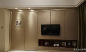 家装电视墙隐形门设计图片大全
