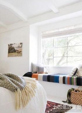 北欧风格卧室飘窗装修效果图大全2014
