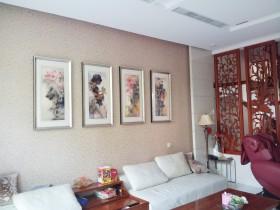 新中式家居客厅装饰画图片欣赏