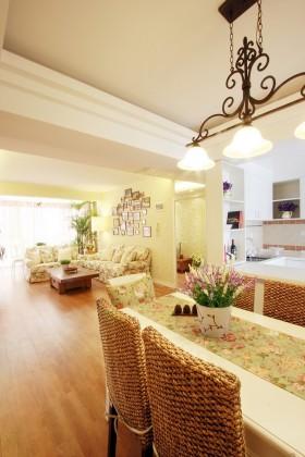 田园风格两室一厅家庭室内装修效果图大全