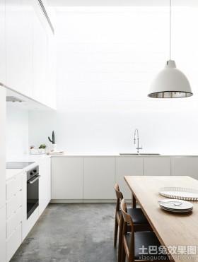 时尚家装白色厨房装修效果图片2014
