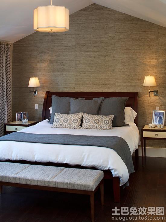 卧室无缝墙布装修效果图高清图片