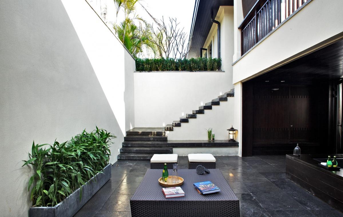 中式风格室外露天阳台装修效果图图片