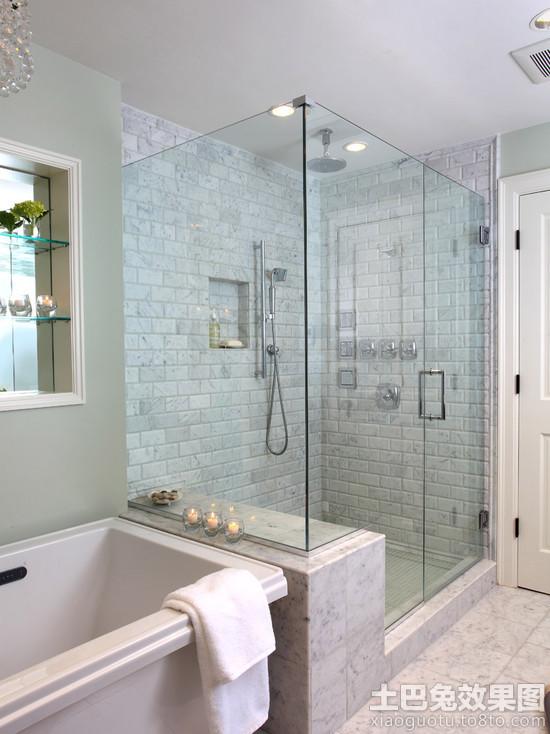 浴室双开玻璃门图片 - 装修效果图 - 九正家居网