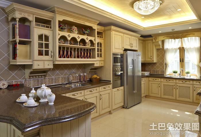 欧式大厨房橱柜效果图