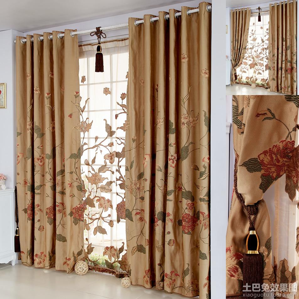中式风格窗帘布艺贴图