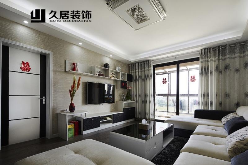 现代客厅电视柜背景墙装修效果图大全