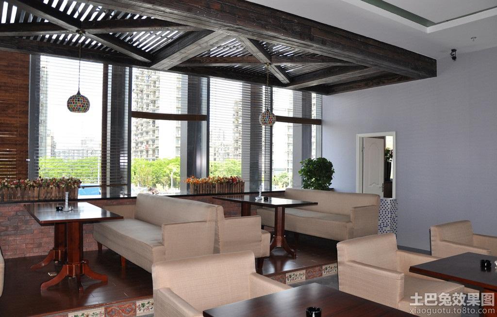 中式风格咖啡厅沙发效果图