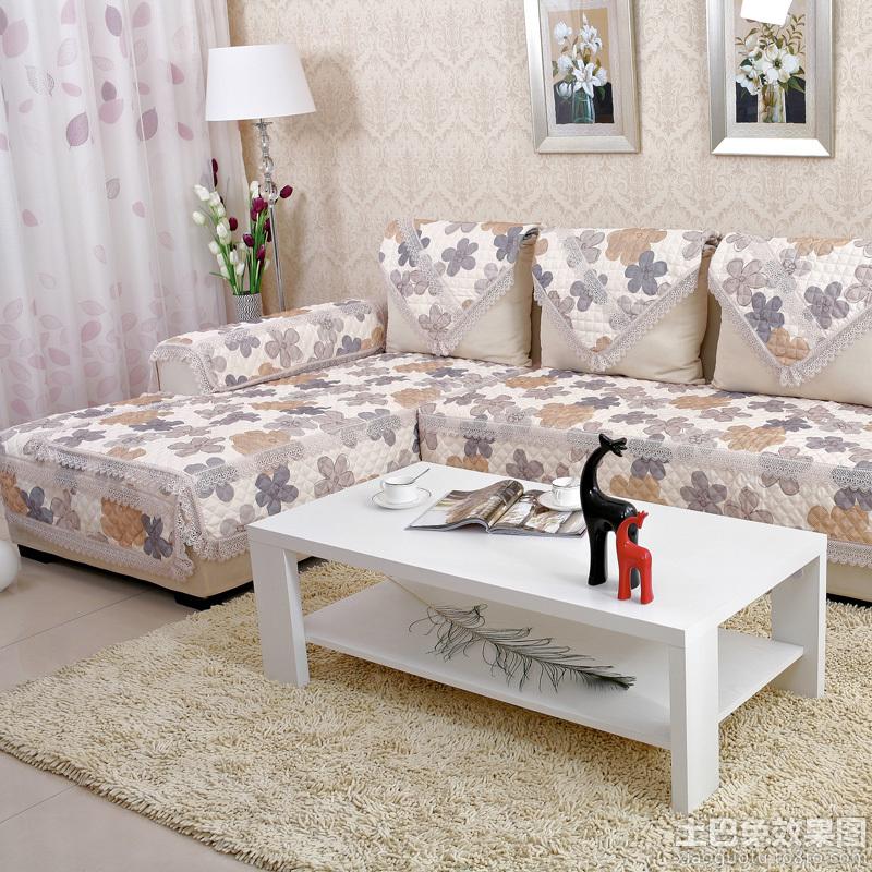 客厅布艺沙发坐垫效果图图片