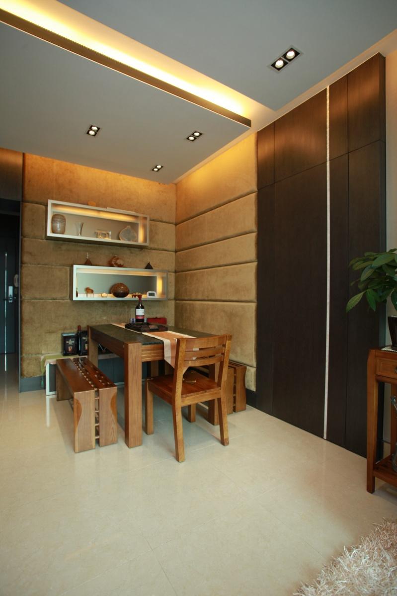 中式餐厅实木家具摆放效果图