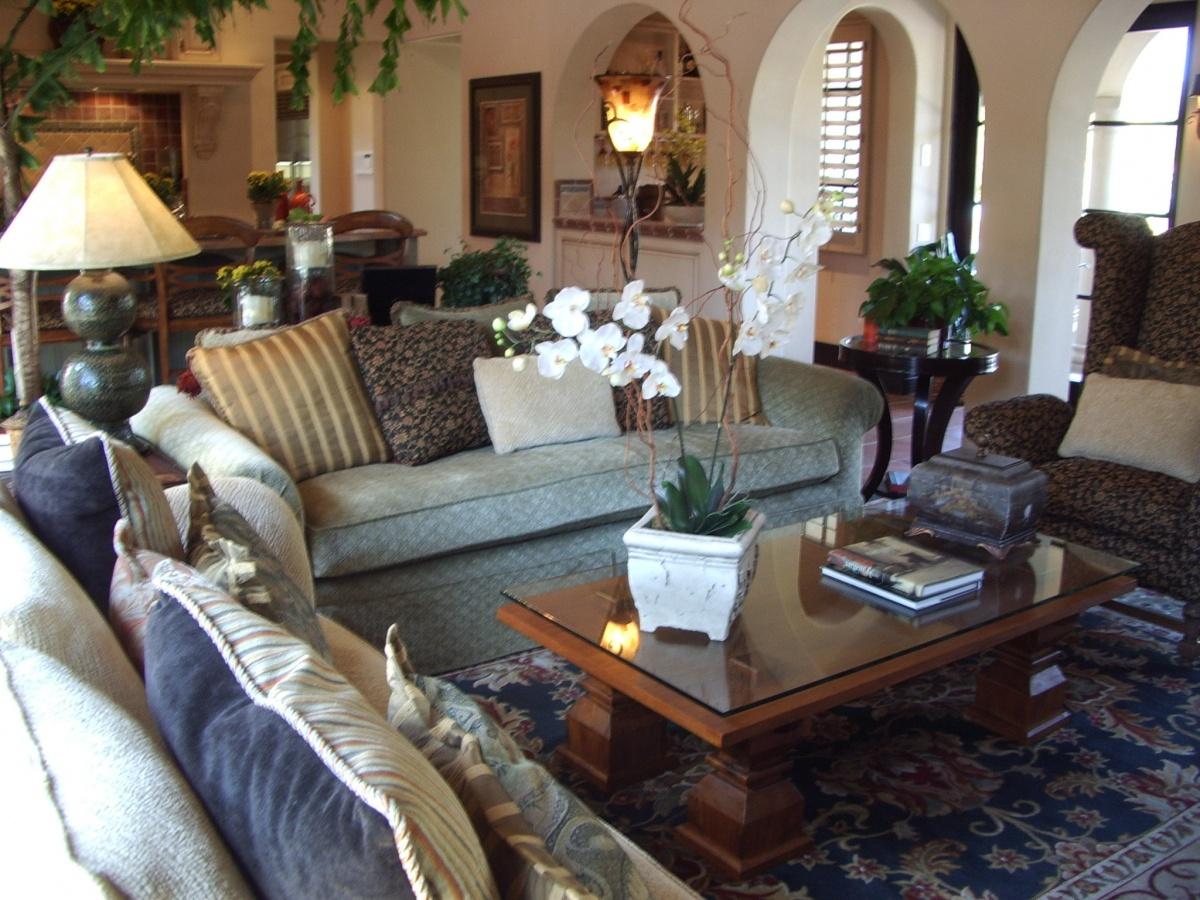 美式别墅客厅沙发茶几图片图片