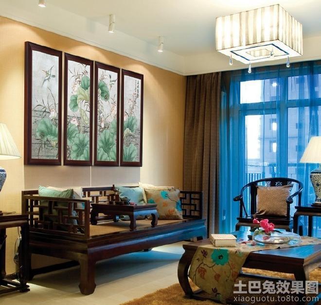 中式客厅室内装修设计图