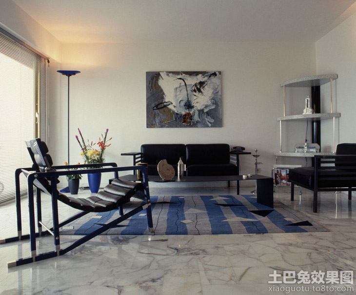 客厅大理石地板瓷砖