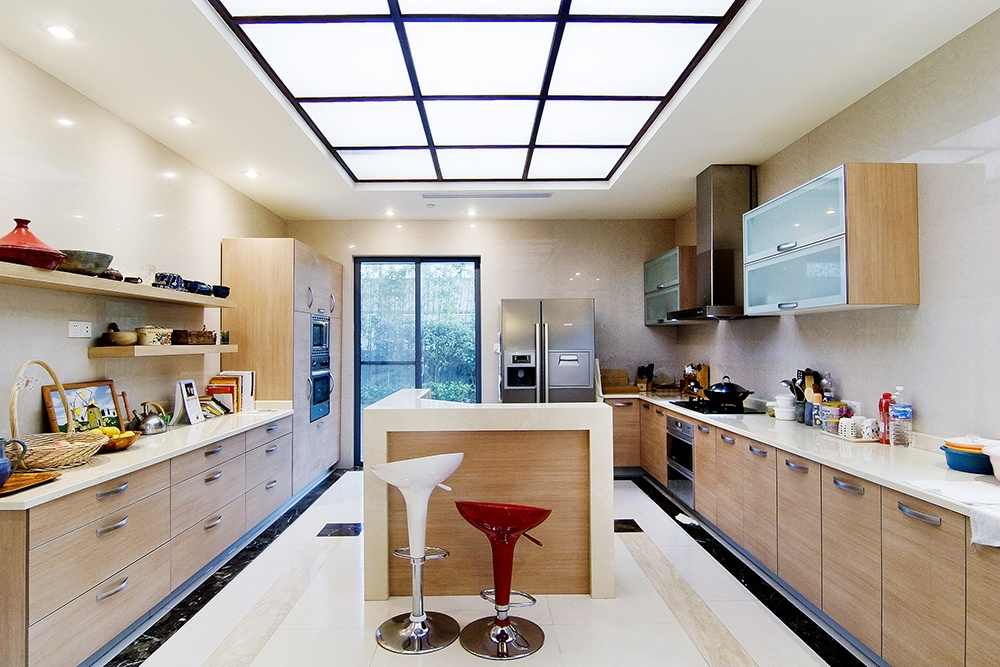 开放式厨房吊顶装修设计 - 装修效果图 - 九正家居网图片