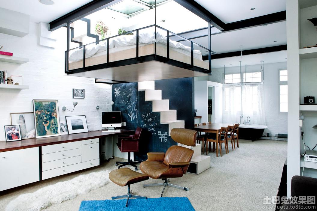 70平米宜家混搭loft公寓户型装修效果图图片