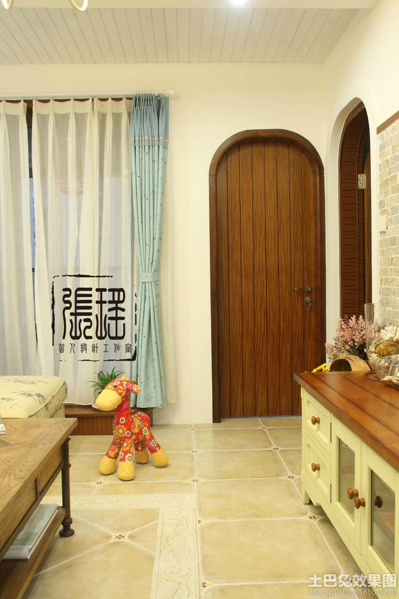 室内实木拱形门装修效果图