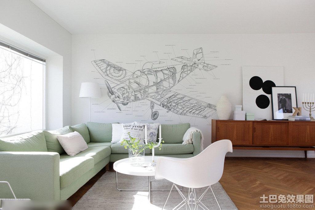 客厅手绘壁画设计