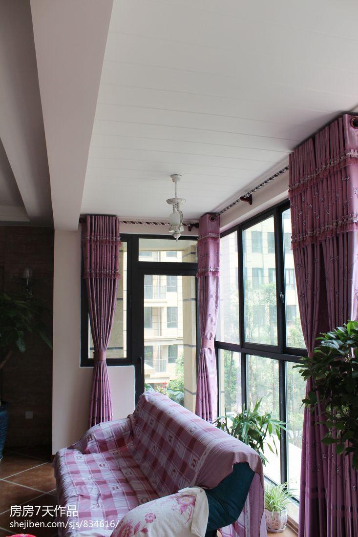 客厅阳台窗帘设计效果图