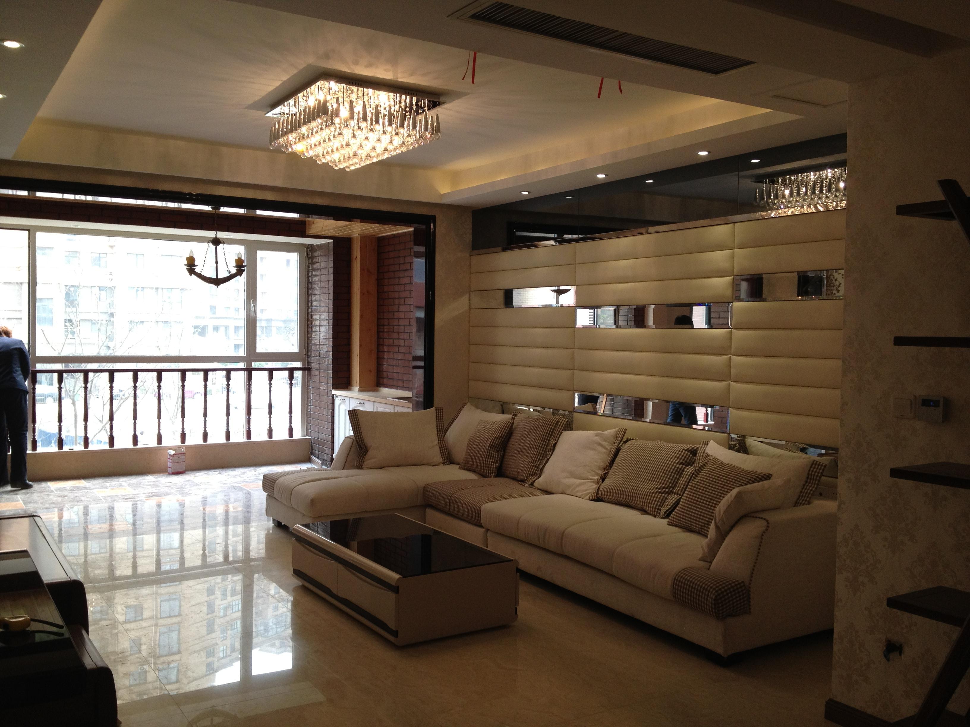 现代简约客厅吊顶家装效果图