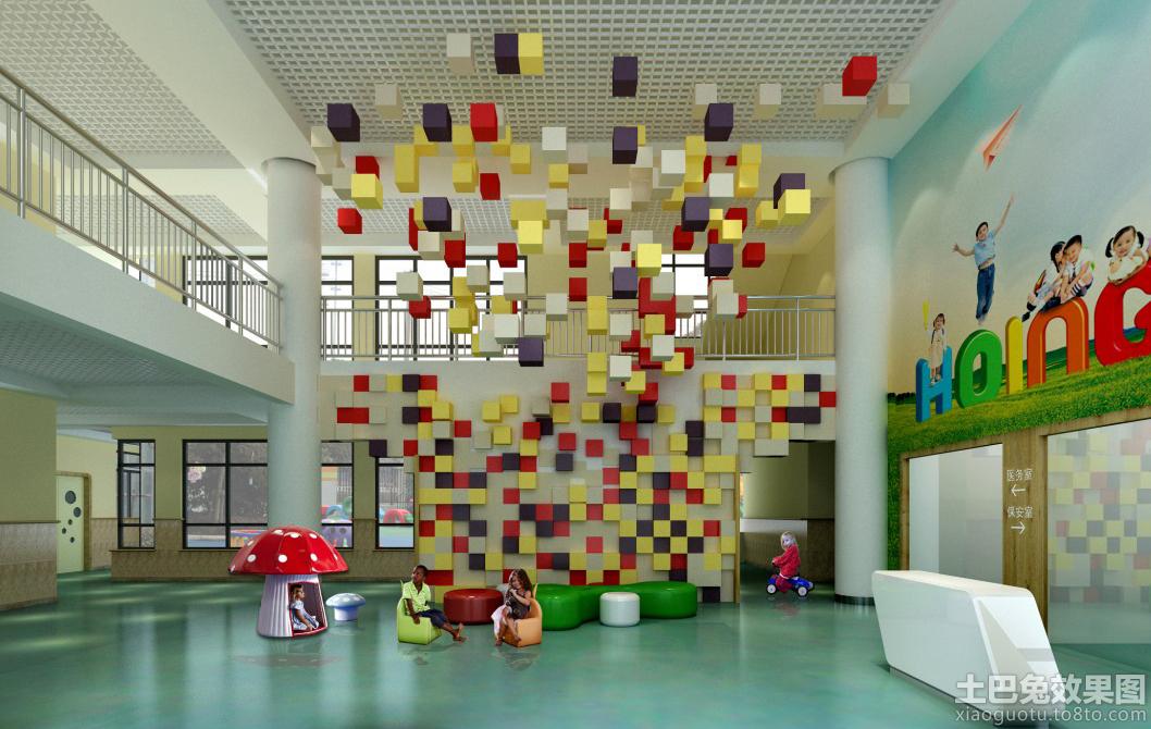 幼儿园环境布置创意大厅图片