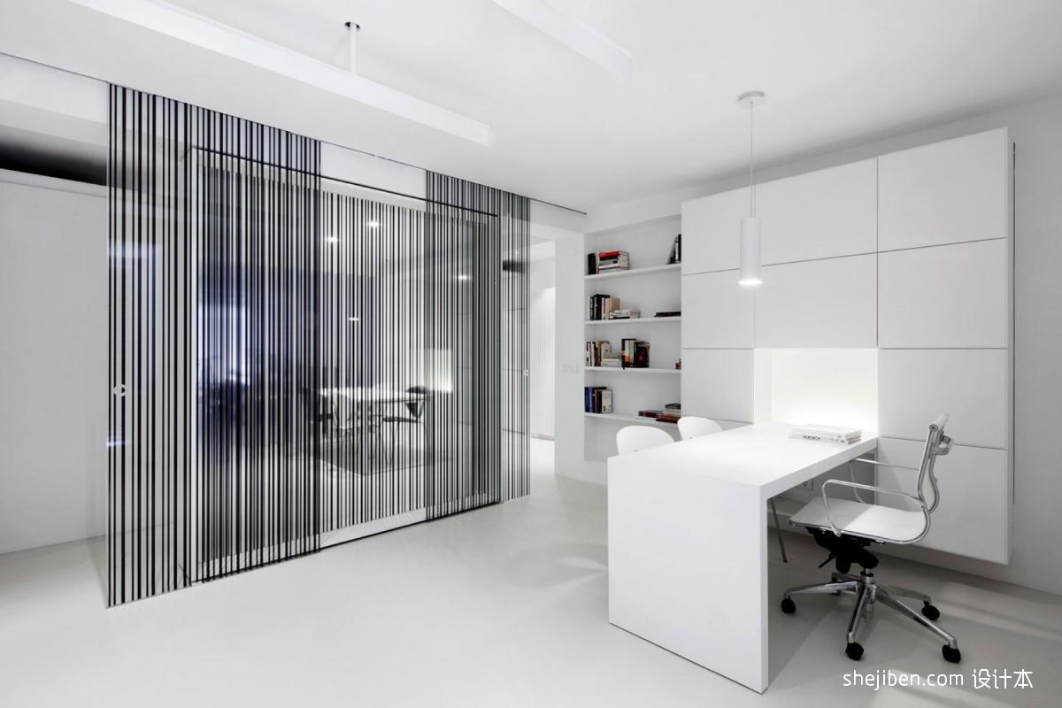 2013现代风格书房书柜隔断装修效果图高清图片