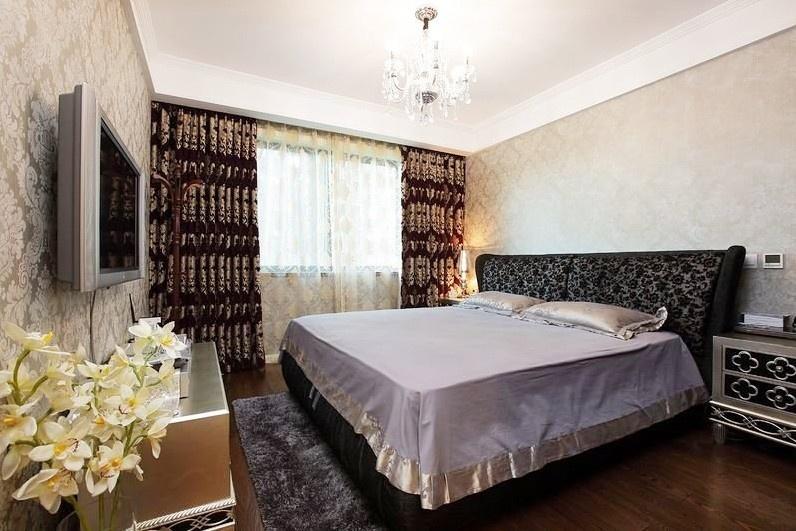 欧式古典风格卧室窗帘装修效果图