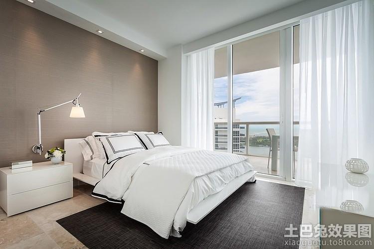 北欧风格卧室窗帘装修效果图图片