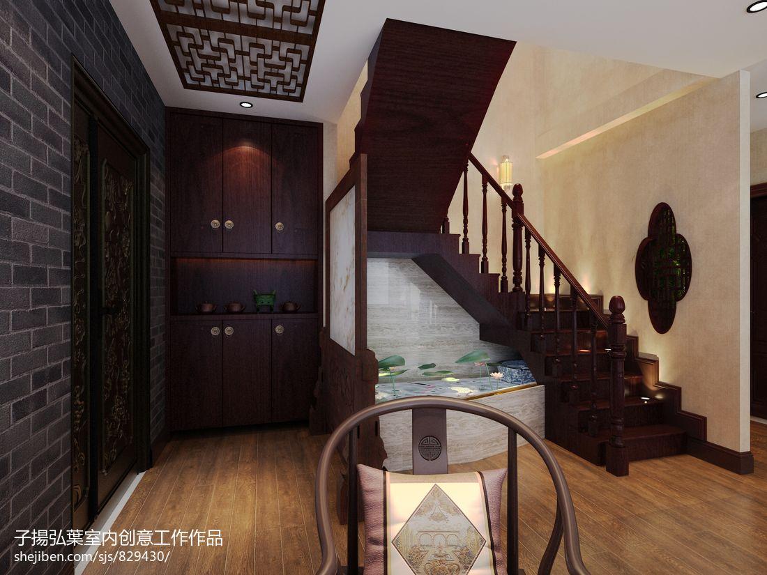 中式入户玄关鞋柜效果图高清图片