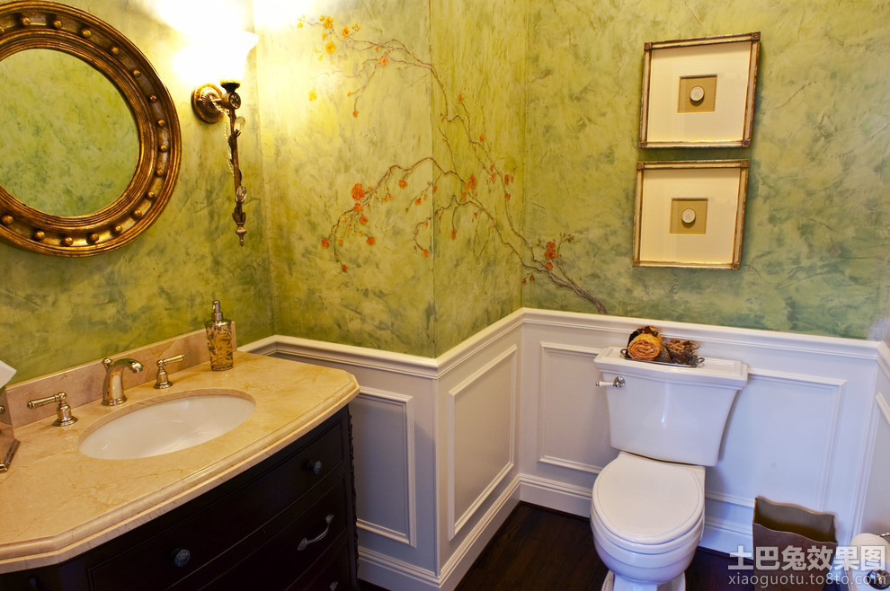 家居卫生间墙裙装修效果图片高清图片