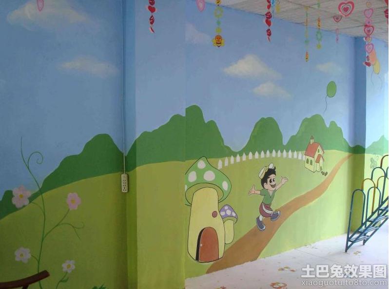 幼儿园手绘墙画设计