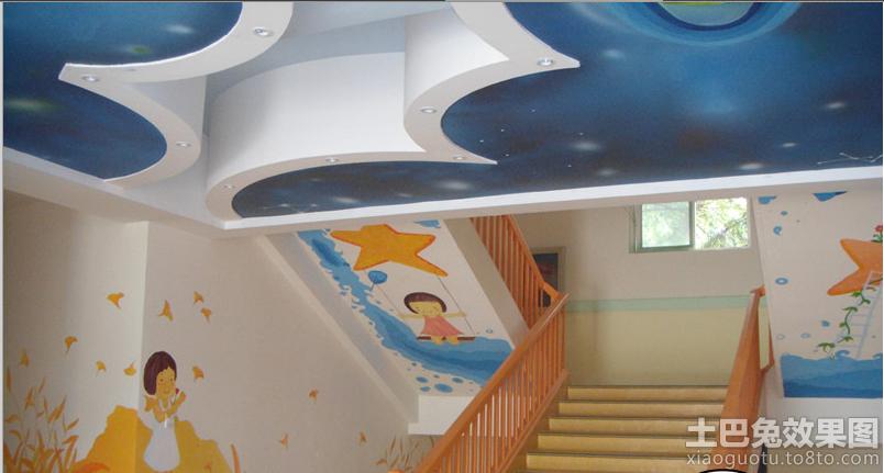 幼儿园楼道手绘墙图片