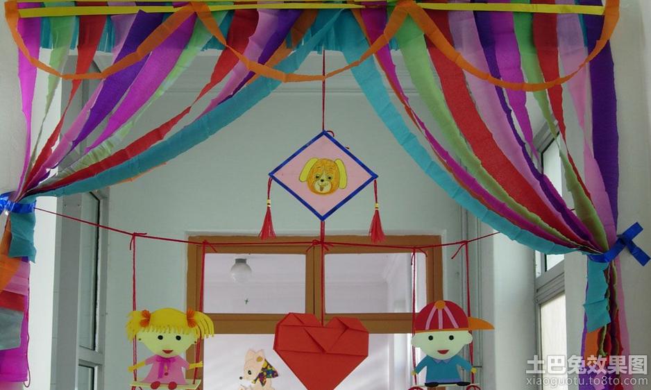 幼儿园环境吊饰布置图片大全